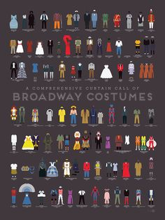 An Art Print by Pop Chart Lab Featuring a Visual History of Broadway Costumes
