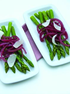 Spring Asparagus and Pickled Onions
