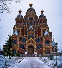Saints Peter and Paul Cathedral at Peterhof, Russia