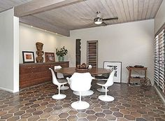 20 best Mid Century Design on Oahu images on Pinterest   Mid century     Mid Century Modern Kailua Beach House for Sale   Two large dining  areas retro