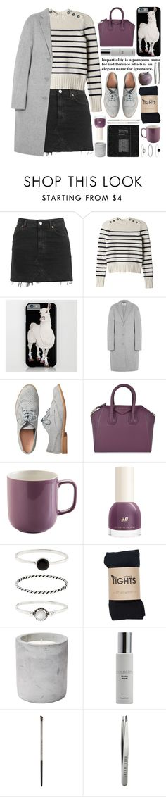 """oversized cashmere coat"" by jesuisunlapin ❤ liked on Polyvore featuring Topshop, Rebecca Taylor, Acne Studios, Gap, Givenchy, Price & Kensington, Accessorize, Colbert MD, Urban Decay and Bobbi Brown Cosmetics"