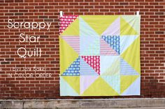 Scrappy Star Quilt tutorial from @incolororder for @Alexis R Taylor Gallery Fabrics #fatquartergang!
