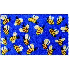 Bees 18x30 doormat  by Entryways