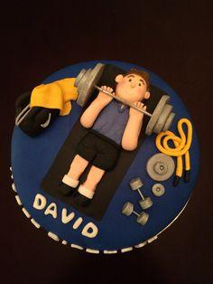 Gym Theme Fondant Cake