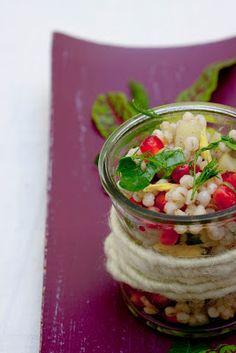 Annetts kulinarisches Tagebuch: Graupen-Granatapfel-Salat nach Ottolenghi