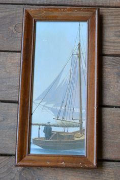 Vintage Framed Print Nautical Sailboat Vintage Art by PanchosPorch, $12.50