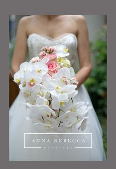 Orchid Bridal Bouquet — anna rebecca weddings