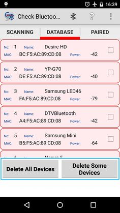 Keep scanned devices in database