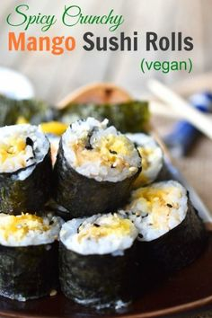 Woman in Real Life:The Art of the Everyday: Spicy Crunchy Mango Sushi Rolls (#TakeBackSchoolLunch)