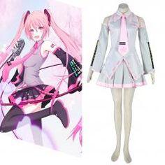 Deluxe Vocaloid Sakura Hatsune Miku 2ND Cosplay Costumes
