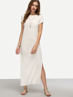 Shop White Short Sleeve Pocket Split Dress online. SheIn offers White Short Sleeve Pocket Split Dress & more to fit your fashionable needs.
