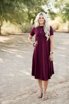 Favorite jersey dress in 2019 s t y l i n. Modest Dresses Casual, Modest Outfits, Modest Fashion, Dress Outfits, Fashion Dresses, Modest Clothing, Sunday Dress Outfit, Tunic Dresses, Maternity Outfits