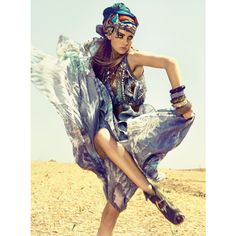 Bohemian style Morocco fashion shoot found on Polyvore