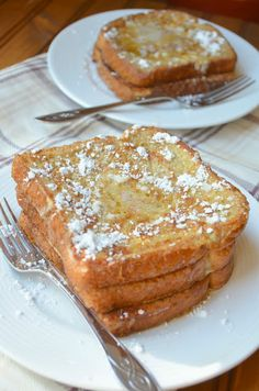 The Savvy Kitchen: Cinnamon Sugar French Toast fr Breakfast Casserole French Toast, What's For Breakfast, Breakfast Dishes, Breakfast Recipes, Tostadas, Brunch Recipes, Dessert Recipes, Desserts, Yummy Food