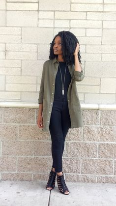 4.26.16//Military Chic Jacket: Forever 21 (Similar styles available here and here) (See how I've styled this jacket in the past here.) Long-sleeved shirt: Target Necklace: Falling Whistles Pants: Old Navy Shoes: Target