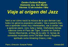 Recital de ragtime, blues y jazz en el Centro Cultural Borges - Profesiones ON-LINE