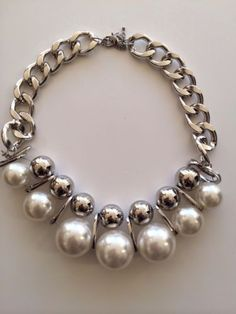 LLD Jewellery Chunky Pearl Fashion Necklace collar chain statement celeb blogger