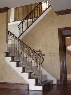 This custom spiral design was created using our fabricated wrought iron services. These unique components are made of solid wrought iron, and are can be powder-coated and custom painted in Satin Black, Oil Rubbed Bronze, Antique Nickel, or Oil Rubbed Copper. We offer parts, install services, and custom components throughout Texas. Click the image for more information.