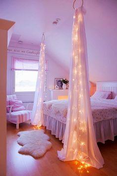 25 ιδέες για να στολίσετε το υπνοδωμάτιο σας με χριστουγεννιάτικα λαμπάκια! | Φτιάξτο μόνος σου - Κατασκευές DIY - Do it yourself