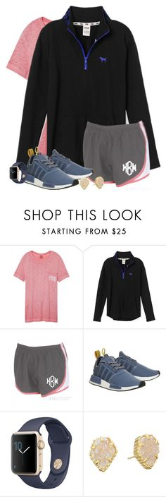 """""""Ootd"""" by wildasyou ❤ liked on Polyvore featuring Victoria's Secret, adidas and Kendra Scott"""