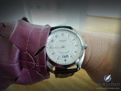 "Hermes Dressage L'Heure Masquée (""Time Veiled"") on the wrist Hermes Watch, Dress Watches, Hermes Paris, Dressage, Quilling, Omega Watch, Veil, Shots, Accessories"