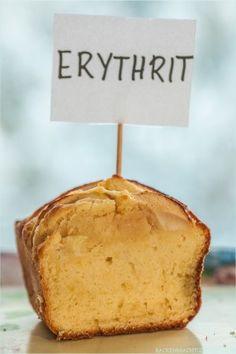 Kuchen mit Erythrit statt Zucker