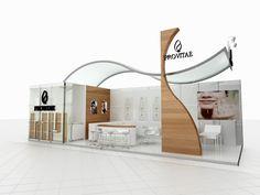 Provitae Exhibition Stand Design, Exhibition Display, Exhibition Ideas, Booth Design, 3d Design, Exibition Design, Trade Show Design, Digital Signage, Commercial Design