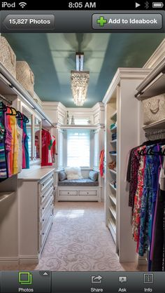Master Closet with a window seat!! This will be similar to mine but much wider!