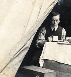 The Messes of Men. Camping in Edwardian times. Found image.