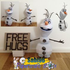 Frozen Paper Model Olaf the Snowman
