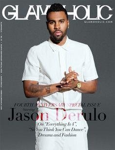 Jason Derulo Covers the 4th Anniversary Special Issue Of Glamoholic: http://www.glamoholic.com #jasonderulo #glamoholic #magazine #celebrities