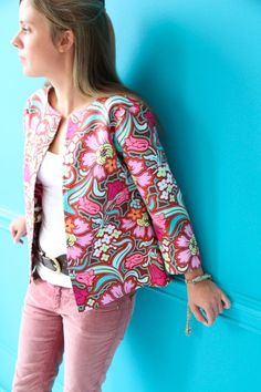 Amy Butler's Soul Blossoms Fabrics with The Sandlewood Jacket