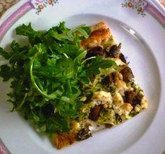 Artichoke, Mushroom & Goat Cheese Tart