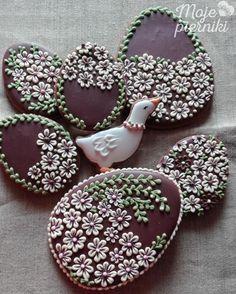 Ester egg cookies by E Kiszowara, Moje Pierniki