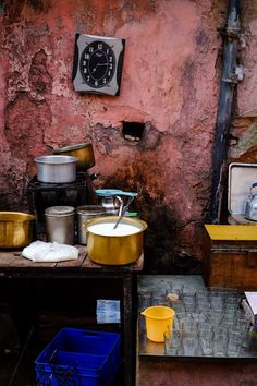 Chai street shop, Jaipur, India                                                                                                                                                                                 More