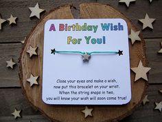 Birthday Wish Bracelet, Star Wish Bracelet, Star Friendship Bracelet, Star Jewelry, Birthday Bracelet, Star Charm Bracelet, Cord Bracelet Wish Bracelets, Cord Bracelets, Star Jewelry, Unique Jewelry, April Rain, Silver Apples, Wishes For You, Close Your Eyes, Make A Wish