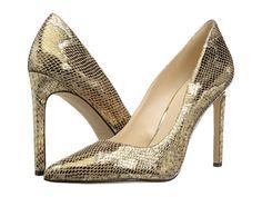 Nine West Tatiana Pointed Toe Pumps, High Heel Pumps, Pumps Heels, Peep Toe, Gold High Heels, Gold Pumps, Slip On Pumps, Slip On Shoes, Toe Shoes