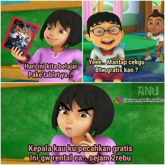 42 Ideas Memes Indonesia Upin Ipin For 2019 Blackpink Memes, New Memes, Girlfriend Humor, Boyfriend Humor, Memes Funny Faces, Cartoon Memes, Funny Text Pictures, All Meme, Single Humor