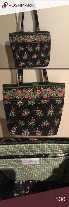 Vera Bradley bag Pretty authentic Vera Bradley bag. Nice size to use everyday.  Has extra pocket for cell phone inside. Cute button closure on outside. Used once for a couple hours. New without tags Vera Bradley Bags Totes