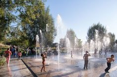 Martin Luther King Park by Atelier Jacqueline Osty & associes « Landscape Architecture Platform Martin Luther King, Fountain City, Fountain Design, Parcs Paris, Landscape Architecture, Landscape Design, All About Water, Water Playground, Camping Water
