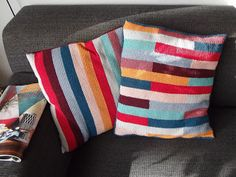 A van Atelier VerMaak. Two pillow cases in tunisian crochet.