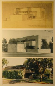 Lloyd Wright Home and Studio. West Hollywood, California. 1927.