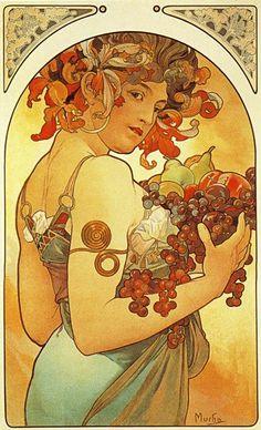 disney nouveau art | As ilustrações de Alphonse Mucha, feitas em mil oitocentos e bolinha ...