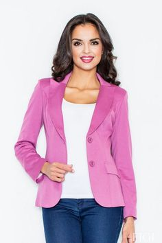Looking for Blazers? Call off the search with our Blazer With Tailored Waist In Ultra Pink. Shop unique fashion at SilkFred Pink Jacket, Blazer Jacket, Vest, Rosa Blazer, Long Jumpers, Weekend Style, Elegant, Everyday Fashion, Plus Size Fashion