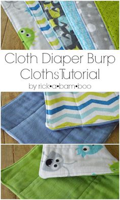 Make your own cloth diaper burp cloths with this two part tutorial. Part one: how to dye burp cloths. | rickabamboo.com | #baby #diy