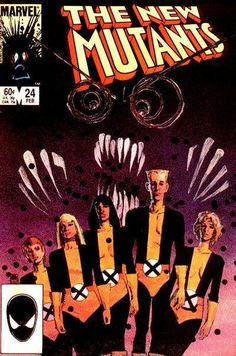 The New Mutants #24 - Comic Book Cover