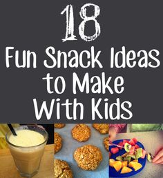 18 fun snack ideas to make with kids // 18 ideas de aperitivos para hacer con niños Cooking With Kids Easy, Baking With Kids, Healthy Kids, Healthy Cooking, Cooking Lamb, Cooking Steak, Healthy Soup, Cooking Tips, Cooking Recipes