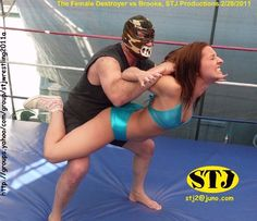 Brooke dominated by The Female Destroyer