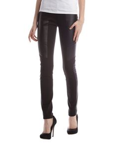 Connect Combo Leggings, Black by BCBGMAXAZRIA at Last Call by Neiman Marcus.