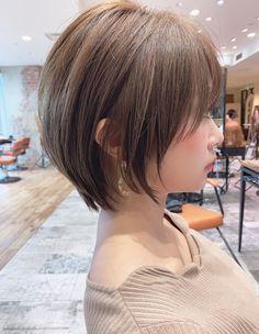 Pin on Beauty Stuff Pin on Beauty Stuff Short Wavey Hair, Asian Short Hair, Short Hair Cuts, Japanese Short Hair, Pixie Hairstyles, Pixie Haircut, Bob Hair Color, Shot Hair Styles, Grunge Hair